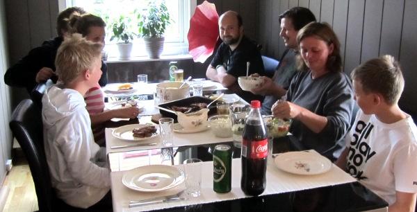 middag for mange