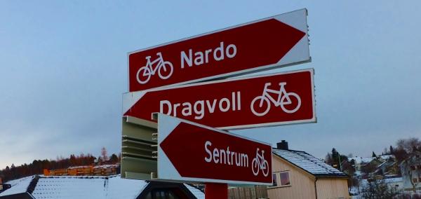 Jeg er på rett vei, selv uten sykkel!