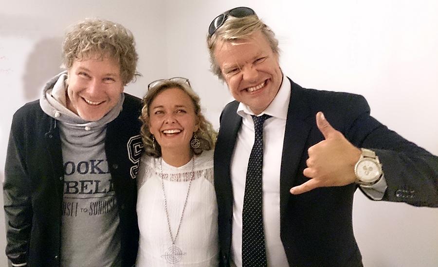 Gustav, meg og Alex – måtte jo bare hilse på dem ...!