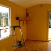 Tomt hus før maling